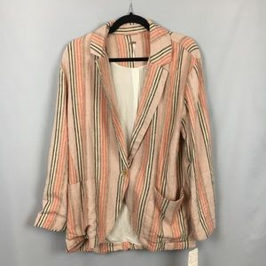 NWT Free People Simply Stripe Oversized Blazer